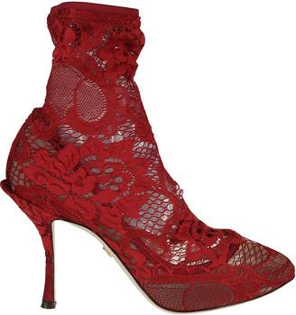 Dolce & Gabbana Floral Lace Pumps