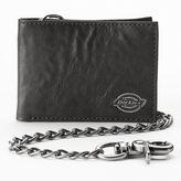 Dickies Slim Bifold Chain Leather Wallet - Men