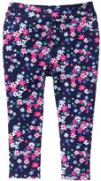 Gymboree Bulldozer Blue & Pink Floral Knit Jeggings - Infant & Toddler