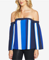 CeCe Striped Off-The-Shoulder Top