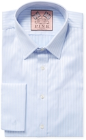 Thomas Pink Men's Super Rocher Stripe Slim Fit Dress Shirt