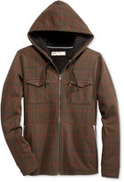 Levi's Men's Hanks Plaid Hooded Sweatshirt with Faux-Sherpa Lining