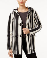 Sanctuary Hooded Striped Toggle Jacket