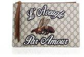 Gucci Merveilles Leather & Canvas Pouch