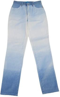 Christian Lacroix Blue Cotton Jeans for Women Vintage