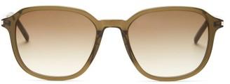 Saint Laurent Square Acetate Sunglasses - Green