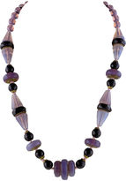 One Kings Lane Vintage Lavender & Black Czech Crystal Necklace