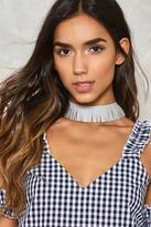 Nasty Gal nastygal Fringe in High Places Choker