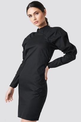 NA-KD Big Puff Sleeve Dress