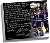 """Steiner Sports Edmonton Oilers Glenn Anderson Oilers Dynasty Facsimile 22"""" x 26"""" Stretched Story Canvas"""