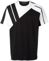 Neil Barrett stripe panel T-shirt - men - Cotton - S