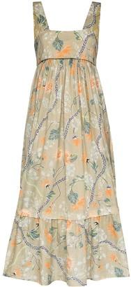 Chloé Floral Print Midi Dress