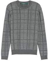Bobby Jones Men's Tonal Grid Wool Sweater