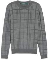 Bobby Jones Tonal Grid Wool Sweater