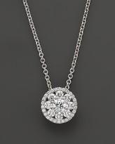 "Roberto Coin Diamond Pendant Necklace in 18K White Gold, 16"""
