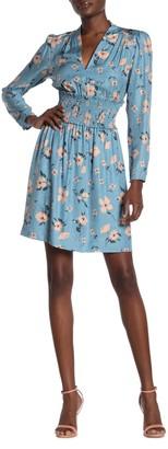 Rebecca Taylor Daniella Floral Silk Blend Mini Dress