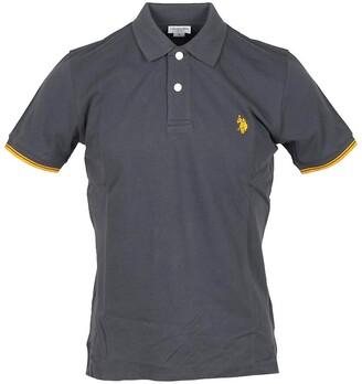 U.S. Polo Assn. Dark Gray Pique Cotton Men's Polo Shirt