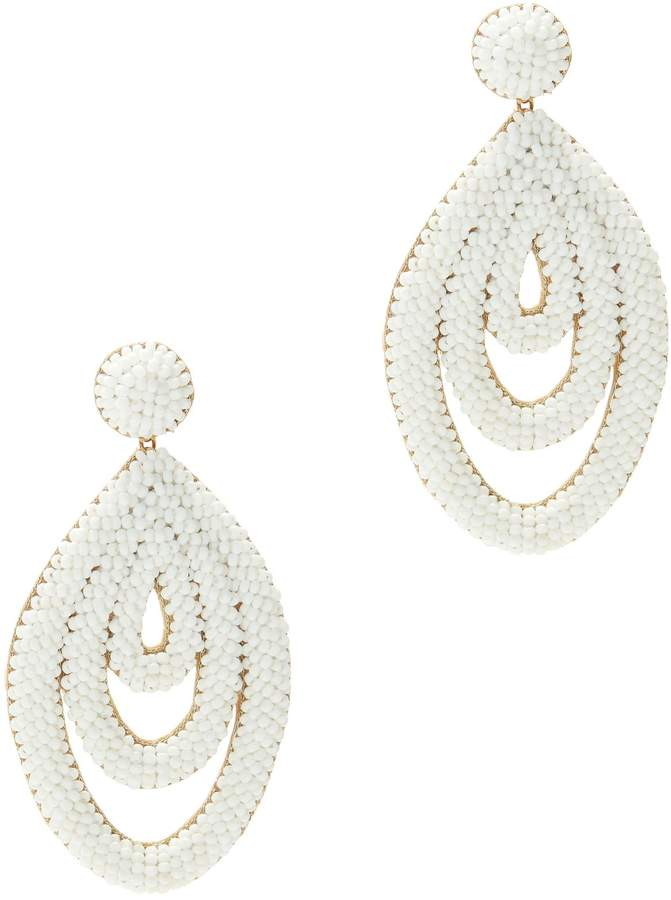 Deepa Gurnani Oval Drop Earrings