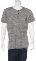 Wings + Horns Heathered Short Sleeve Henley