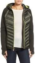 MICHAEL Michael Kors Mixed Media Hooded Down Jacket