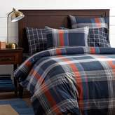 Pottery Barn Teen Walker Plaid Duvet Cover, Red, Twin