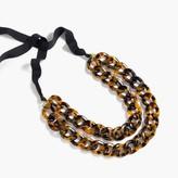 J.Crew Double lucite chain necklace