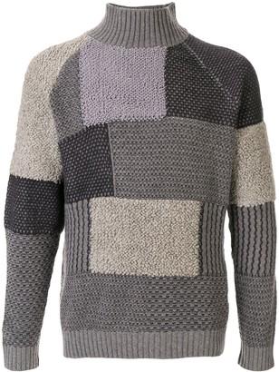 Giorgio Armani patchwork knit jumper