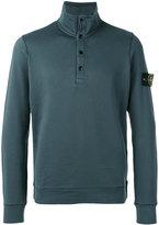 Stone Island button collar sweatshirt - men - Cotton - XL