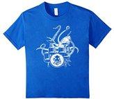 Kids Octopus Drummer T-shirt Drum Kit 10