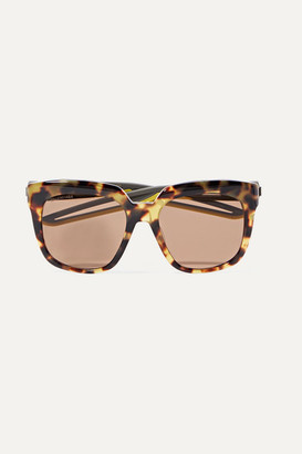 Balenciaga Hybrid Oversized Cat-eye Acetate Sunglasses - Tortoiseshell
