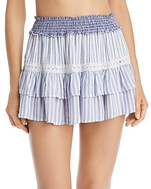 Surf.Gypsy Striped Combo Mini Skirt Swim Cover-Up