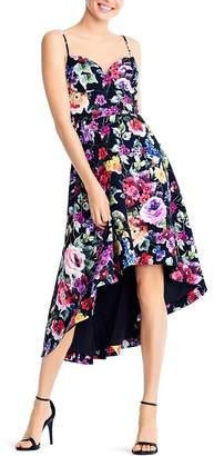 Aidan Mattox Floral High/Low Dress