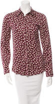 Derek Lam 10 Crosby Silk Printed Top