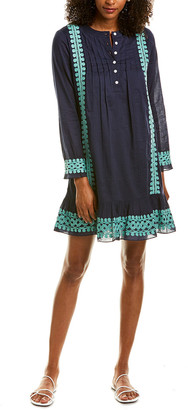 Sail to Sable Embroidered Shift Dress