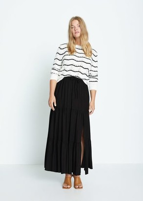 MANGO Slit long skirt