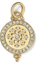Temple St. Clair 18K Gold Halo Mandala Cutout Pendant with Pave Diamonds