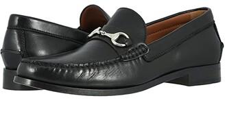 Trask Seaton (Black Sheepskin) Men's Slip on Shoes
