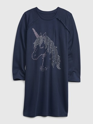 Gap Kids Unicorn PJ Dress