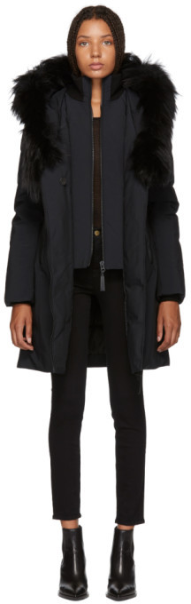 Mackage SSENSE Exclusive Black Kay-P Touch Down Coat
