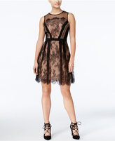 XOXO Juniors' Scalloped Lace Fit & Flare Dress