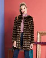 Fashion World Collarless Belted Faux Fur Coat