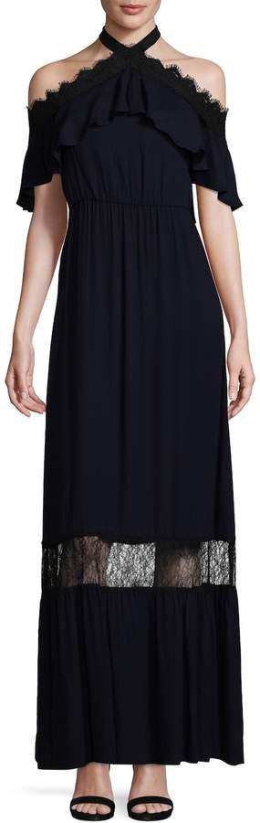 Alice + Olivia Women's Mitsy Off the Shoulder Halter Dress