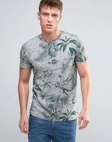 Esprit T-Shirt With All Over Floral Print