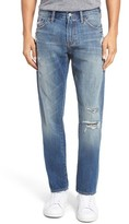 Jean Shop Men's Jim Slim Fit Distressed Selvedge Jeans