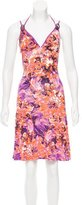 Just Cavalli Printed Cutout Dress