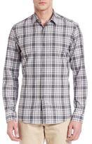 Salvatore Ferragamo Plaid Casual Button-Down Shirt