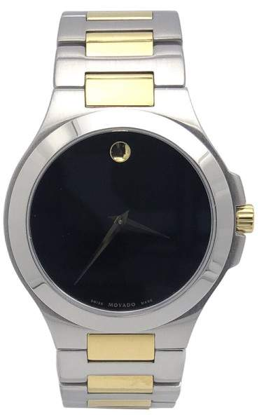Movado Museum 01.1.20.1036 Stainless Steel and Gold Plate 40mm Mens Watch