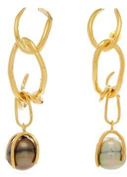 Ryan Storer Fiji Pearl & 14kt Gold-plated Drop Earrings - Gold