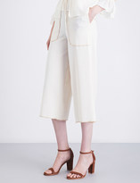 See by Chloe Straight-fit cropped high-rise crepe trousers