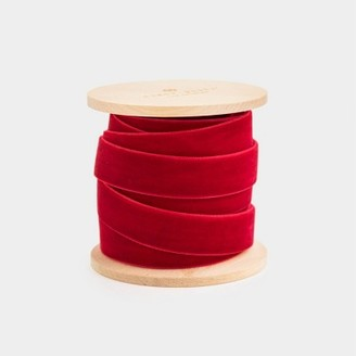 .625in x 15ft Red Velvet Ribbon - Sugar PaperTM